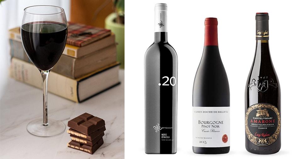 Hořká čokoláda a červené víno